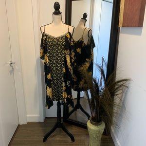 Xhilaration Floral Off the Shoulder Dress